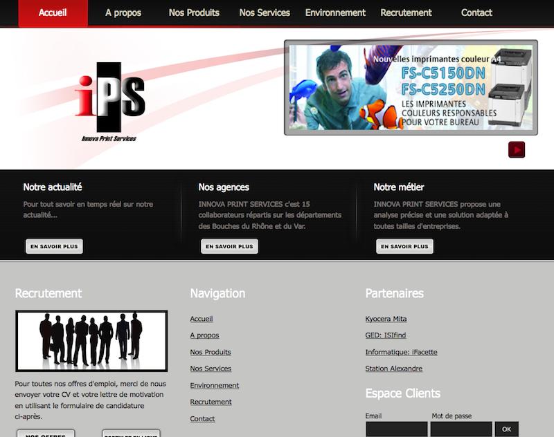 Innova Print Services motorisé par Web 2D