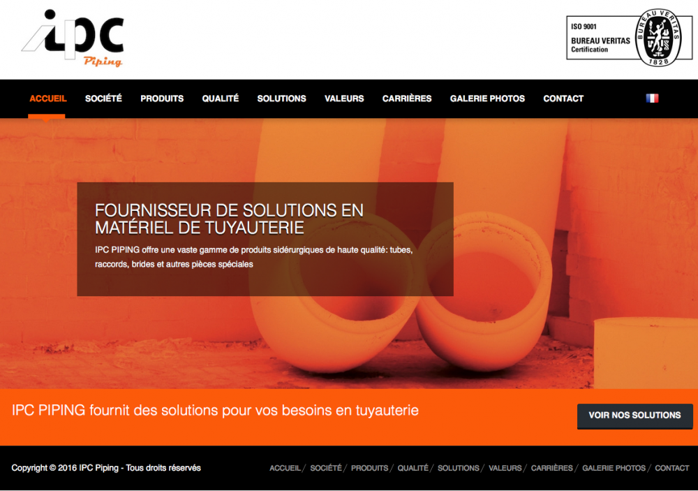 IPC PIPING motorisé par Web 2D